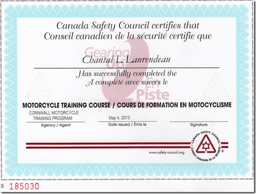 Chantal Motorcycle course002